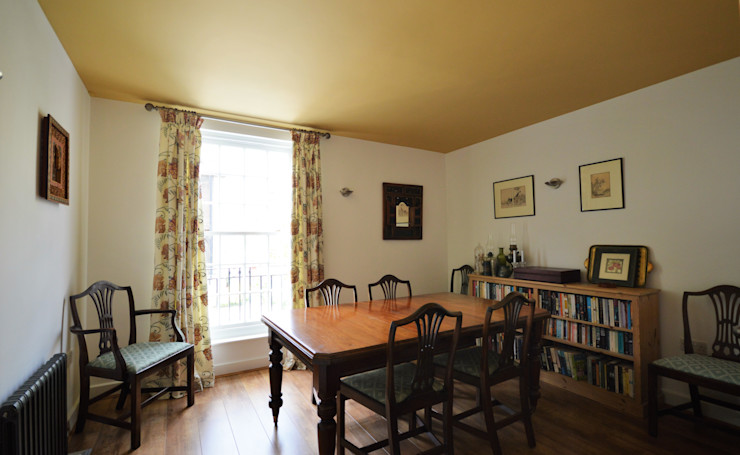 Painting and decorating Royal Arsenal, London Paintforme Colonial style dining room Orange