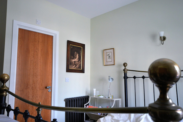 Painting and decorating Royal Arsenal, London Paintforme Classic style bedroom Green