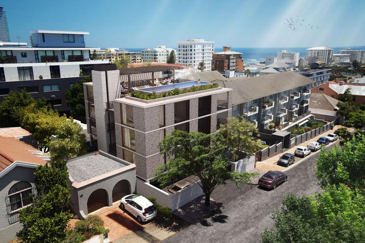 Three Anchor Bay Apartment Block Kunst Architecture & Interiors Multi-Family house Bricks