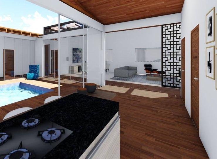 Iluminação garantida realizearquiteturaS Armários e bancadas de cozinha