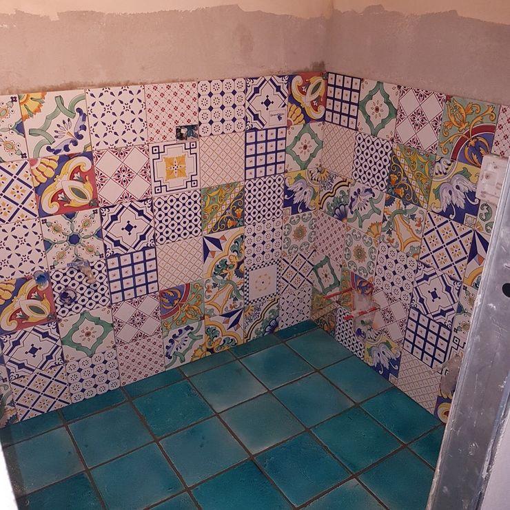 Tuscany Art Casas de banho mediterrânicas Cerâmica Turquesa