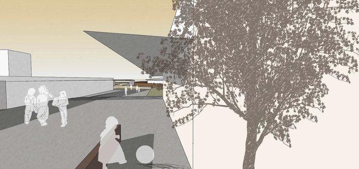 Ville de l'education et de la culture atelier architettura Scuole in stile rustico