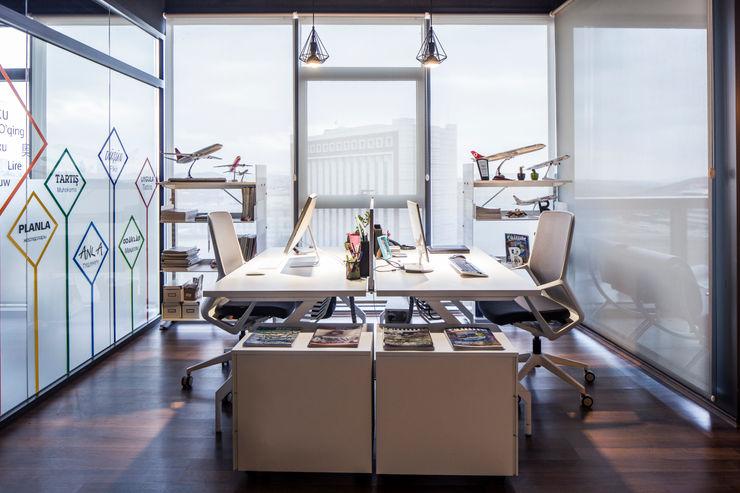 Modern Ofis tasarımı homify Ofis Alanları Beyaz