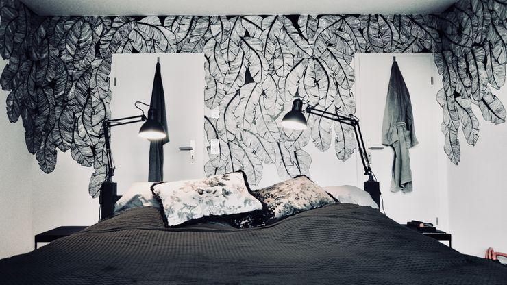 redesign Schlafzimmer - nachher HAUSSTATTER - interior redesign Ausgefallene Schlafzimmer