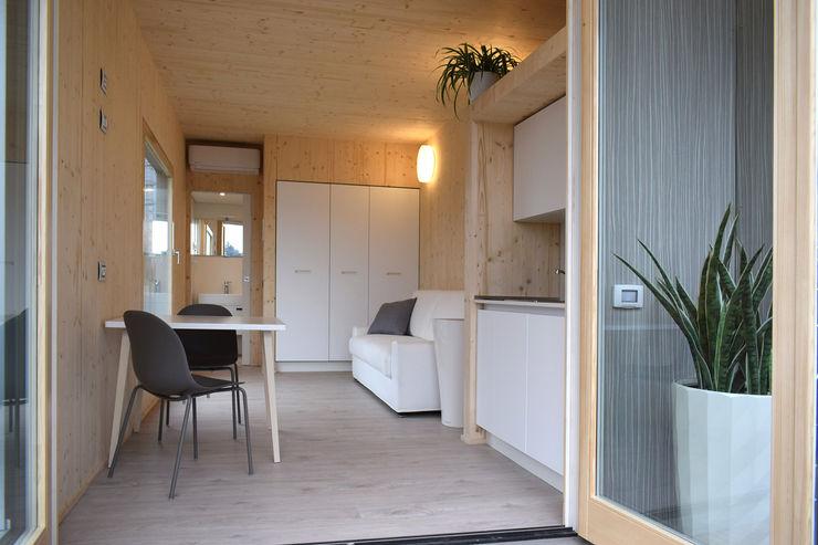 Nidoom - suite d'albergo prefabbricata e trasportabile Marlegno Hotel moderni Legno