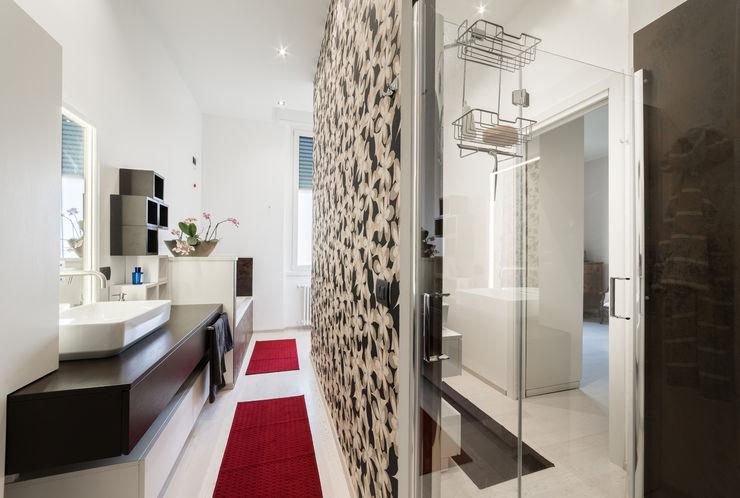 Appartamento in villa Annalisa Carli Bagno eclettico Legno Turchese