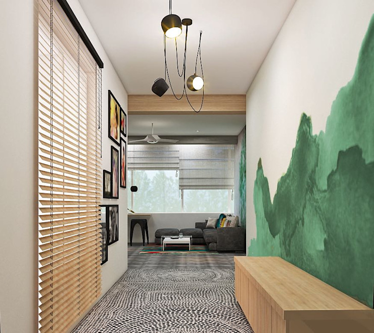 Residence homify Eclectic style corridor, hallway & stairs