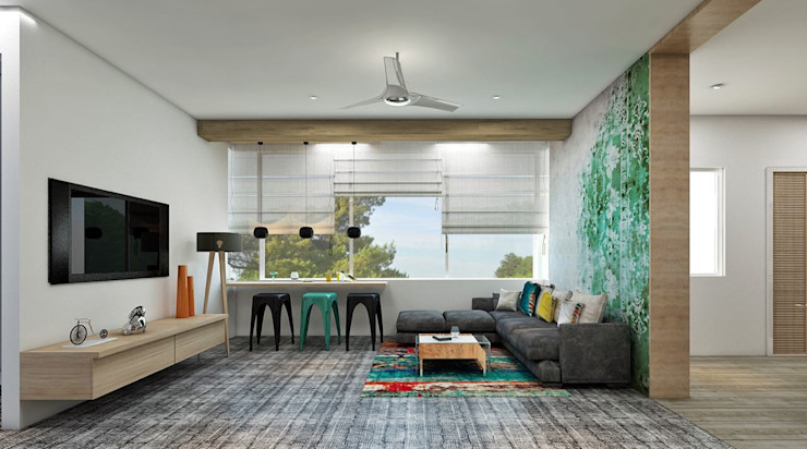 Residence homify Eclectic style living room