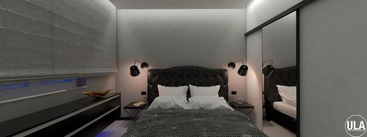 TATA ULA architects Camera da letto eclettica Nero