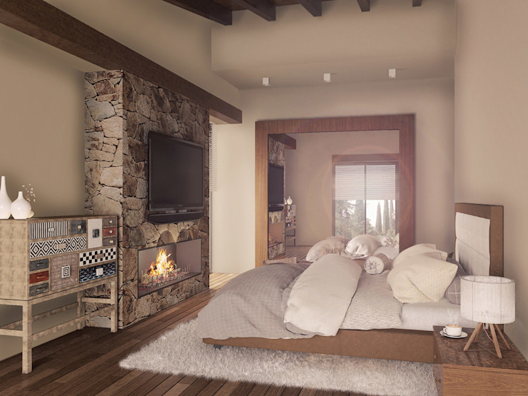 Casa en el Bosque - BCA Taller de Diseño BCA Taller de Diseño Dormitorios modernos