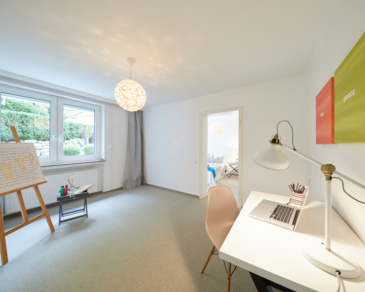 Exponierte Unternehmervilla in Bestlage - Arbeiten Tschangizian Home Staging & Redesign Klassische Arbeitszimmer