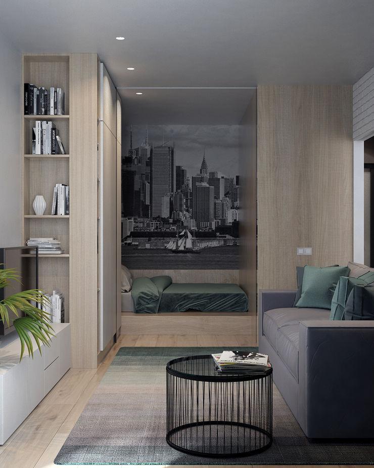 Appartement/Saint-Pétersbourg, Russie, 2018 Tatiana Sukhova Salon moderne