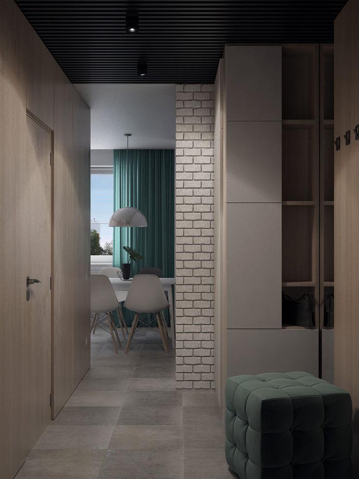 Appartement/Saint-Pétersbourg, Russie, 2018 Tatiana Sukhova Couloir, entrée, escaliers modernes