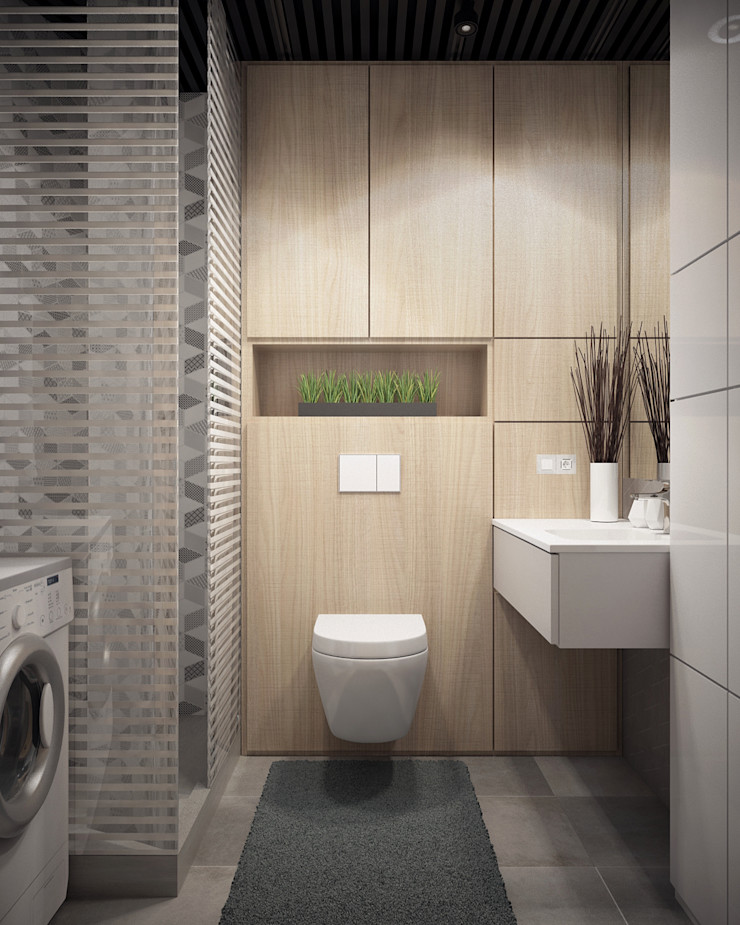 Appartement/Saint-Pétersbourg, Russie, 2018 Tatiana Sukhova Salle de bain moderne