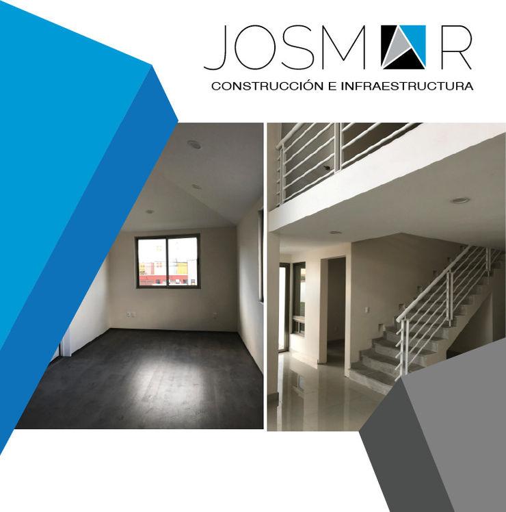 JOSMAR CONSTRUCCIÓN E INFRAESTRUCTURA Modern corridor, hallway & stairs White