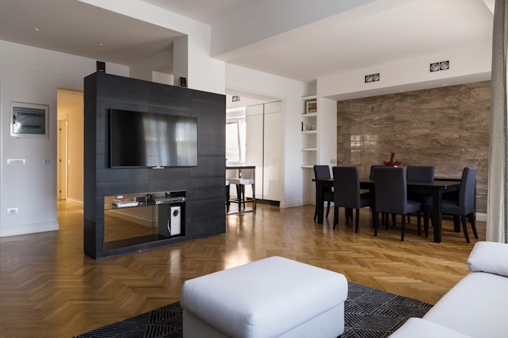 APPARTAMENTO ZONA BALDUINA a2 Studio Borgia - Romagnolo architetti Soggiorno moderno