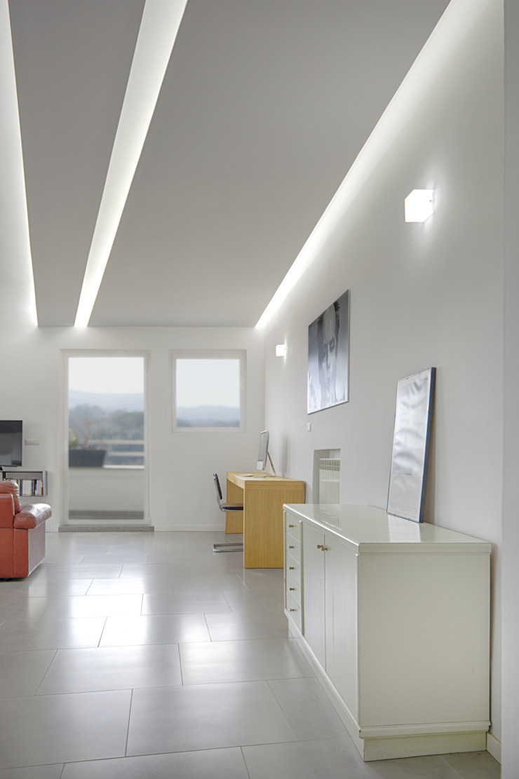 Casa-Cannocchiale MAMESTUDIO Soggiorno minimalista