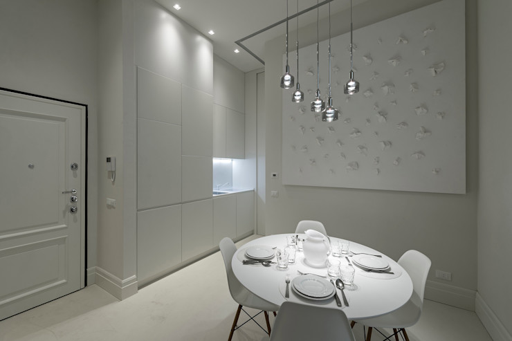 Vemworks llc Ruang Makan Modern White
