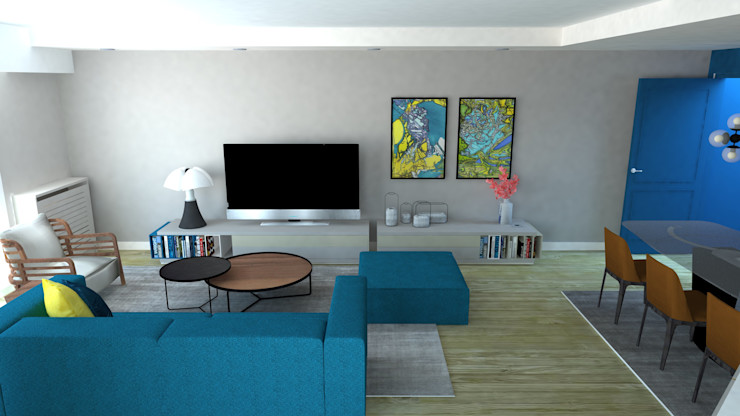 Anne Lapointe Chila Salas de estilo moderno