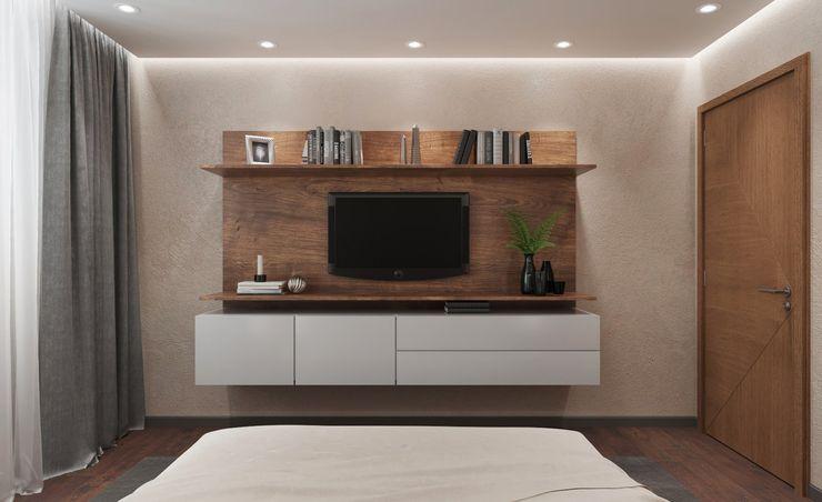 ДизайнМастер Modern style bedroom Brown