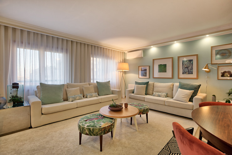 Sala piso 0 ShiStudio Interior Design Sala de estarSofás e divãs