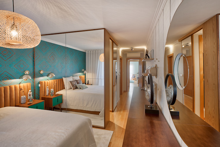 Quarto de casal ShiStudio Interior Design QuartoAcessórios e decoração