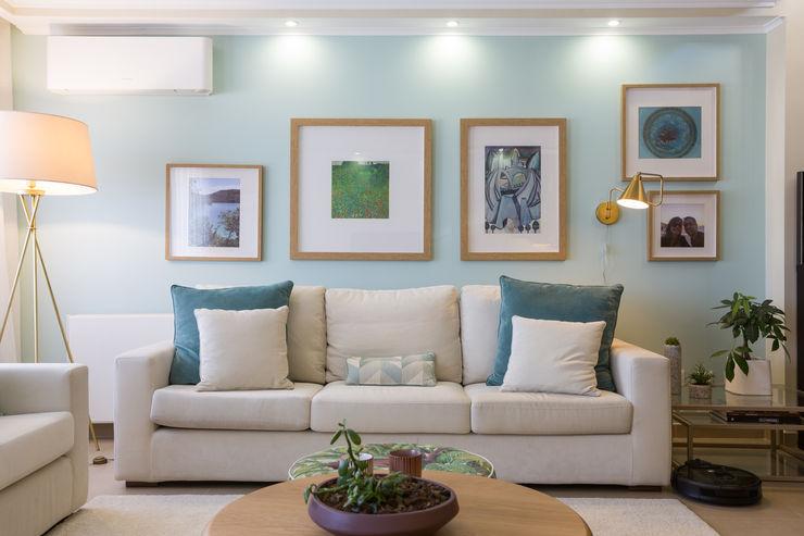 Sala piso 0 ShiStudio Interior Design Salas de estar escandinavas