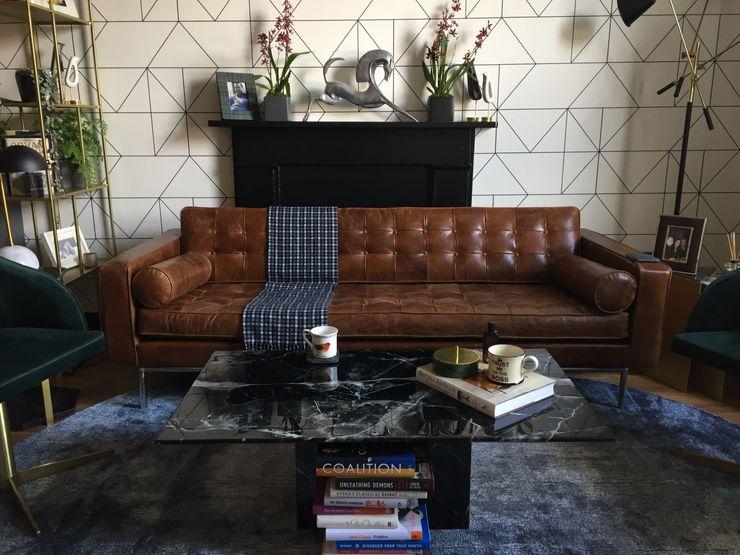 Belsize Park Flat Orkun Indere Interiors Modern living room Marble Black
