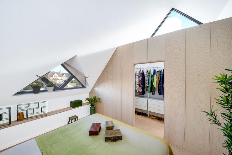 Arts & Crafts House design storey Scandinavian style bedroom Wood White
