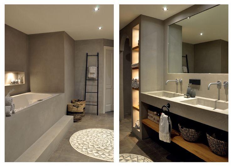 Sfeerimpressie badkamer Cleopatra ligbad / bubbelbad homify Moderne badkamers Wit