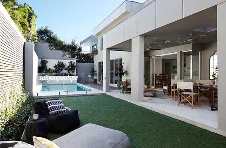 Công ty thiết kế xây dựng hồ bơi Saigonpoolspa Modern Houses