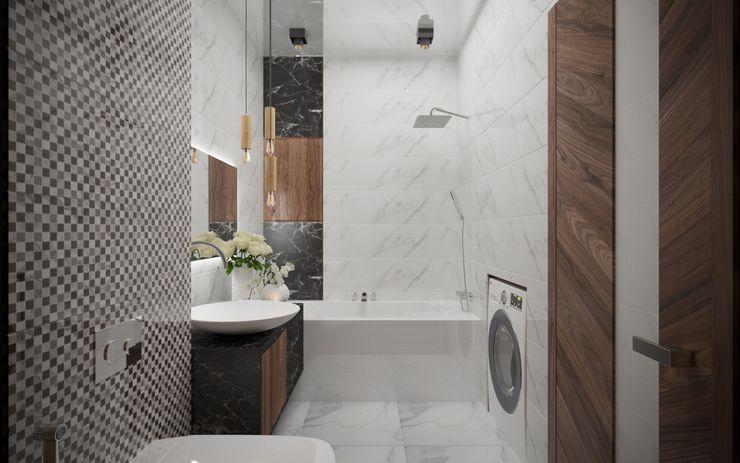 Деревянный бум ХаТа - design Ванная комната в стиле минимализм