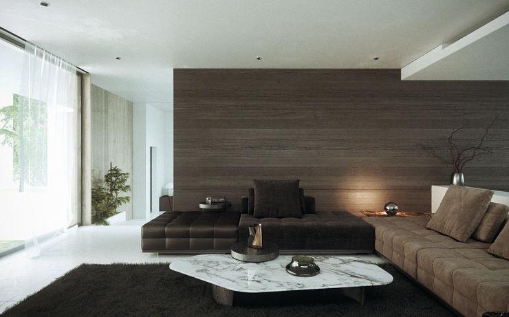 SALA CIC ARQUITECTOS Salones minimalistas