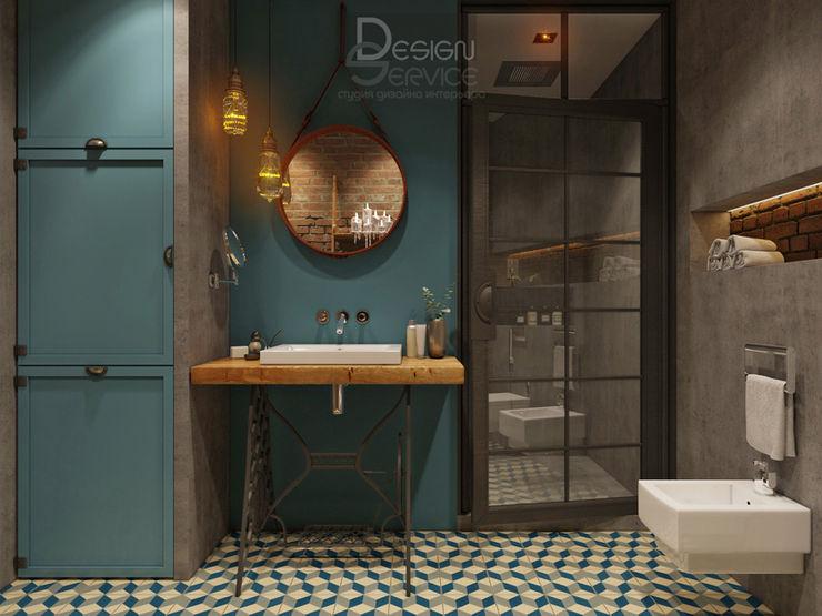 В духе брутального романтизма Design Service Ванная в стиле лофт