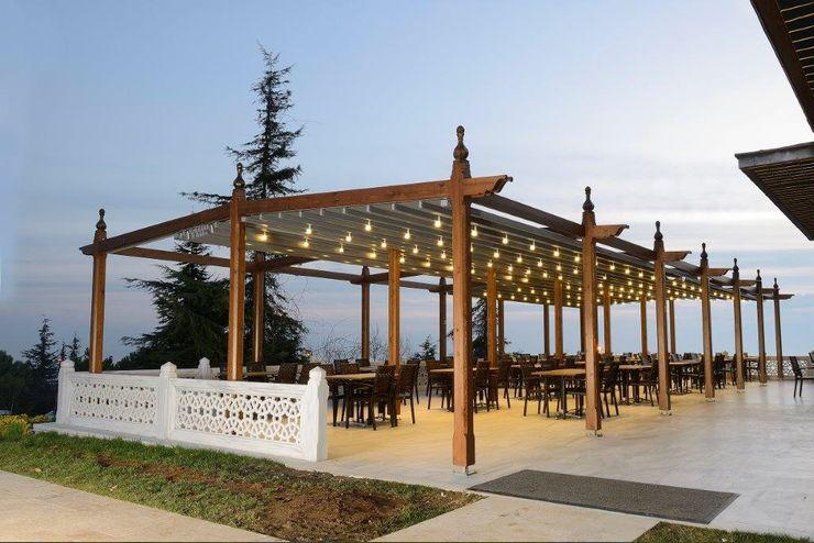PERGOLA A.Ş. Centros comerciales de estilo moderno Madera Acabado en madera