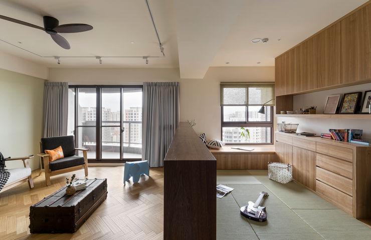 開放式書房 邑田空間設計 Asian style study/office