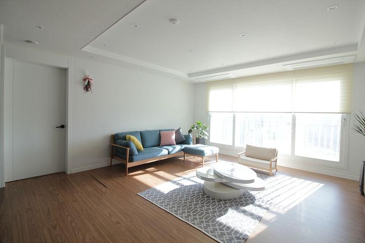 동탄2 예미지 아파트인테리어 N디자인 인테리어 스칸디나비아 거실