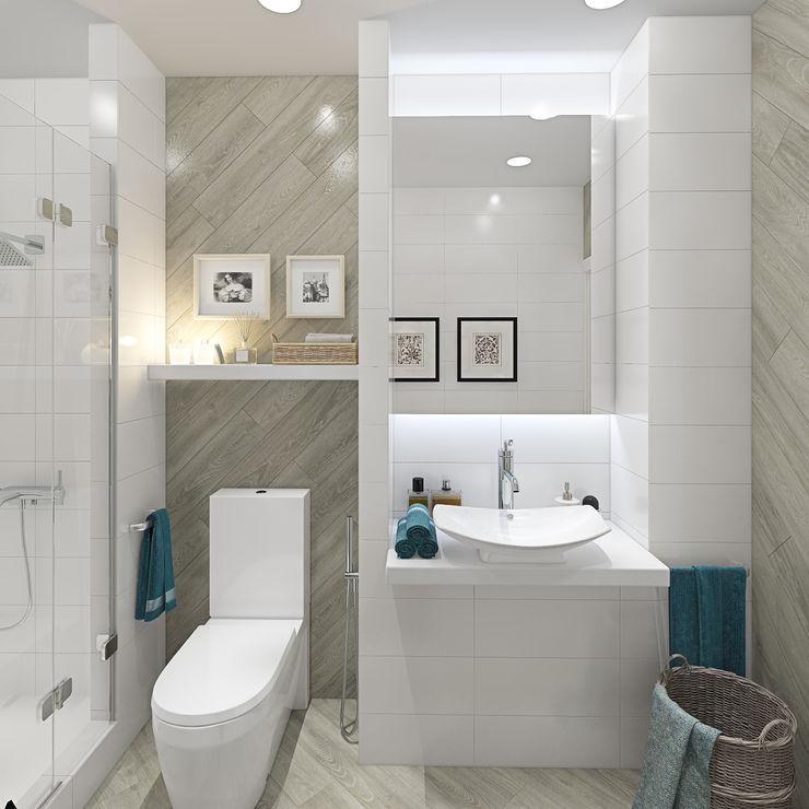 Дизайн-проект двухэтажного загородного дома в Ереване design4y Ванная в классическом стиле