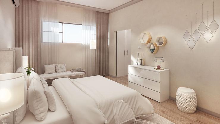 The girl's bedroom Dessiner Interior Architectural Modern style bedroom