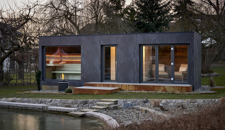 Saunahaus SpaCube corso sauna manufaktur gmbh Moderner Garten