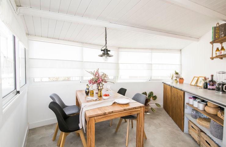 Comedor Triangle Studio Salones rústicos de estilo rústico