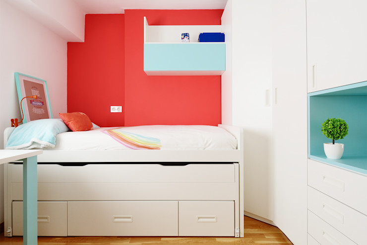 Compacto en blanco Noelia Villalba Dormitorios infantiles de estilo moderno