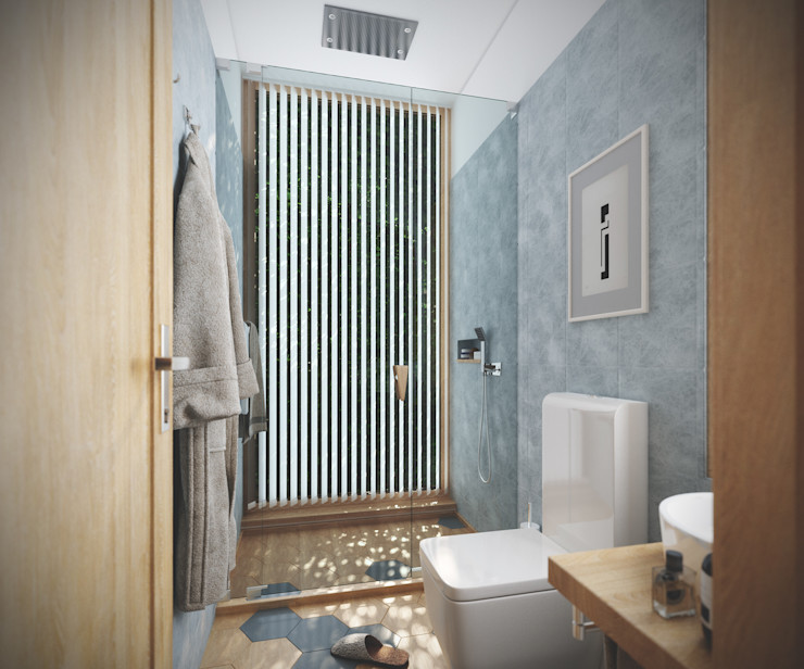 Studio Gritt Skandinavische Badezimmer