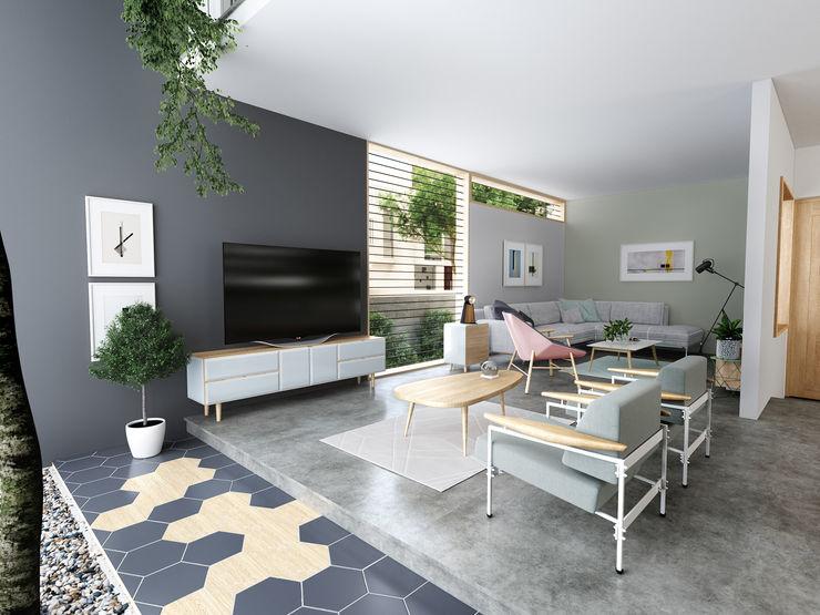 Studio Gritt Skandinavische Wohnzimmer