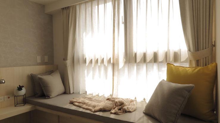 臥榻 邑田空間設計 Scandinavian style windows & doors