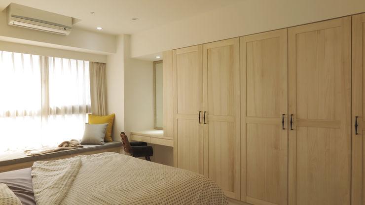木作衣櫥與梳妝台 邑田空間設計 Scandinavian style bedroom