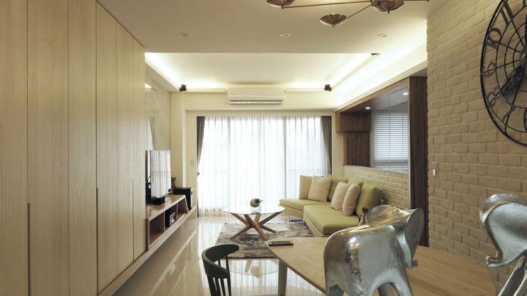 客廳與餐廳 邑田空間設計 Scandinavian style living room