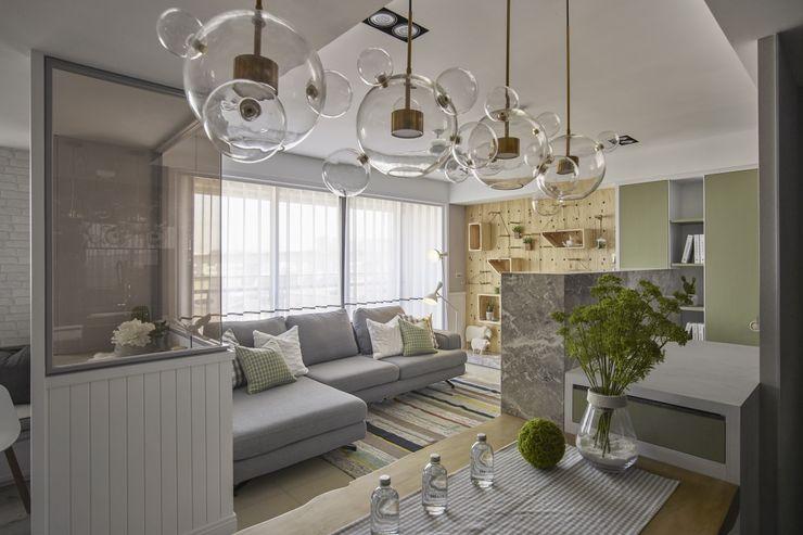春神-現代寫意 辰林設計 客廳 White