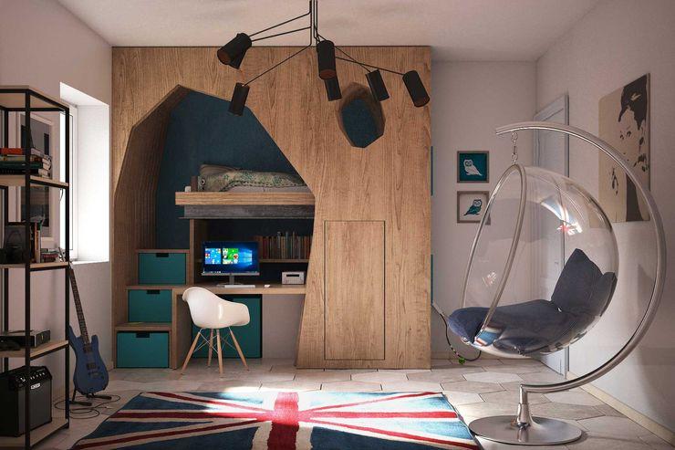 Giardino D'inverno e ristrutturazione Alfredo Pulcrano Camera da letto in stile scandinavo