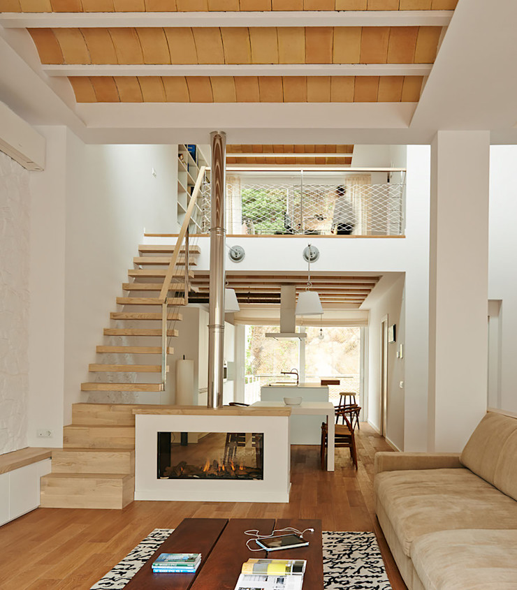 LaBoqueria Taller d'Arquitectura i Disseny Industrial Modern living room Wood Wood effect